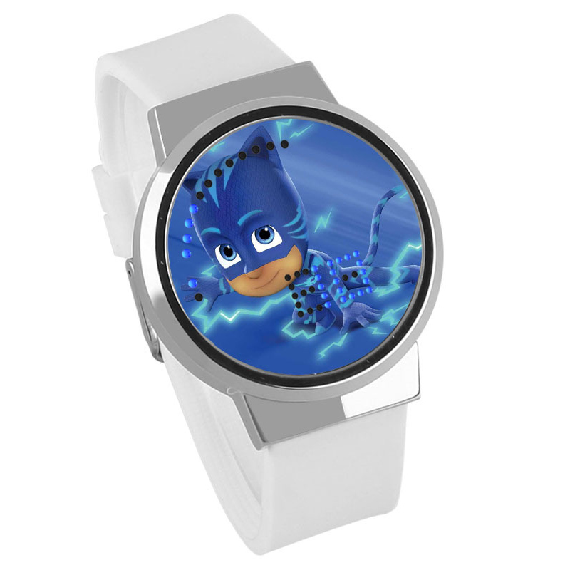 Pj Masks Waterproof Touch Digital Watch PJ Mask Small Masked Man Creative LED Male Wristwatch Kids Children Birthday Gifts S82