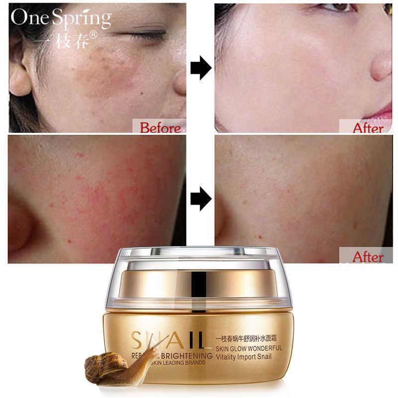 Snail Moisturizing Face Cream Remove Age Spot Scar Pigment