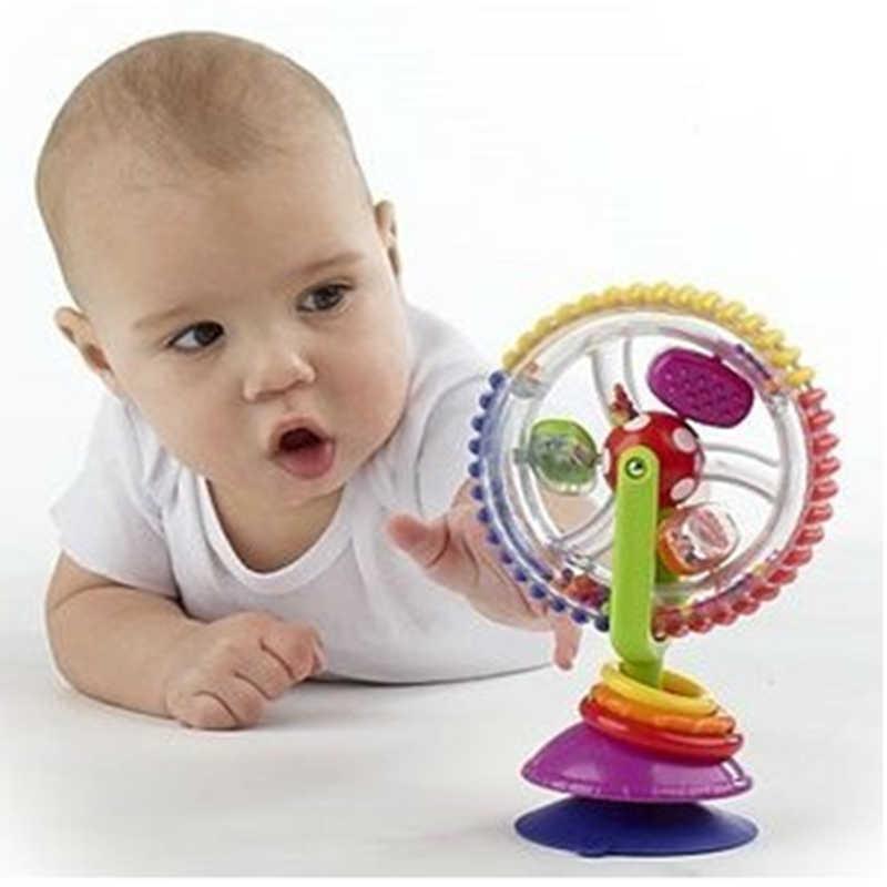 Neue Angekommene Puzzle Baby Bildungs Entwicklung Spielzeug Spinning Riesenrad Rotierende Windmühle Gürtel Sauger Baby Rassel Beißring Spielzeug