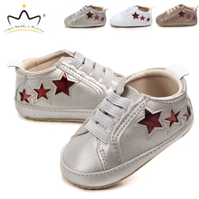 New Baby Shoes Soft Cotton Cute Star Print Toddler Boy Girl