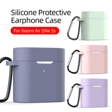 silicone protective earphone case for xiaomi air 2s air2 air2s bluetooth headset protect shell xiomi airdots 2 s cover with hook