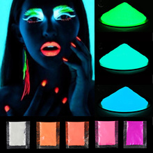 10g/30g Neon Phosphor Powder Nail Glitter Powder Glow In The Dark Luminous Pigment Dust For DIY Paint Printing Nail Decoration недорого