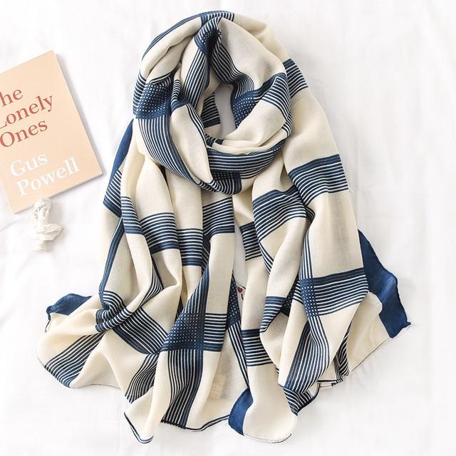 Écharpe à imprimé en coton pour femme 3