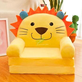 Folding Cartoon Stool For Children Kids Sofa Cute Chair Fashion Children Sofa Baby Stool Can Be Wash Washable Chair For Kids