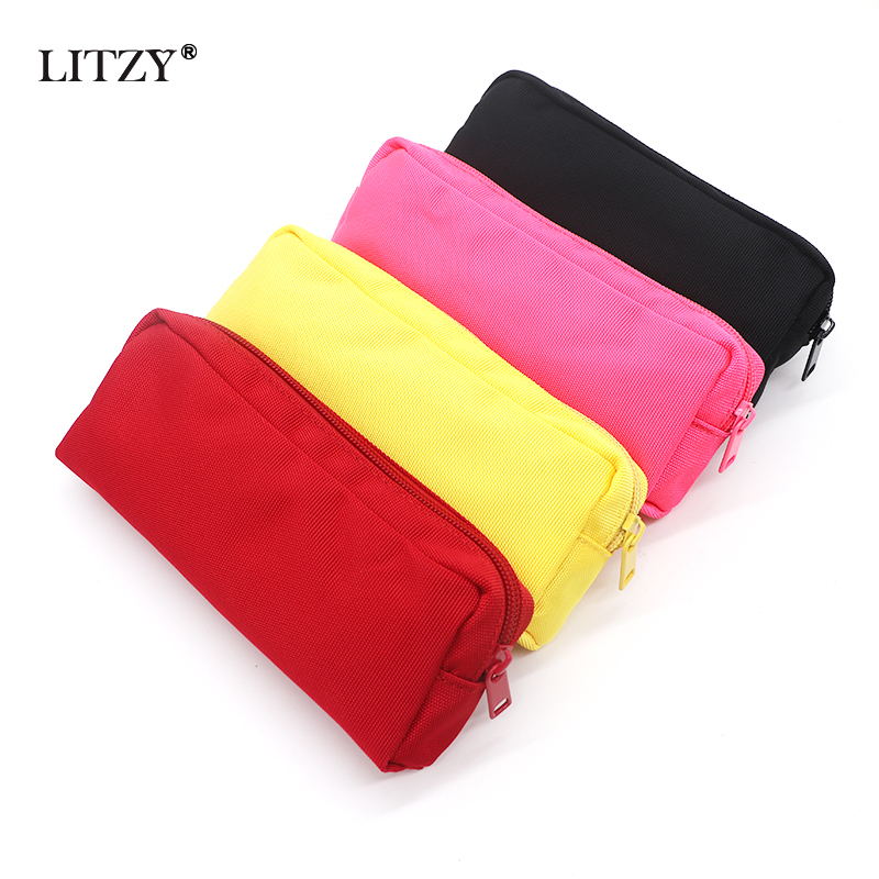Black Pencil Case School Pencil Case For Boys Girls Big Capacity Pencil Bag Box Cute Canvas Pencilcase Supplies Stationery Gifts