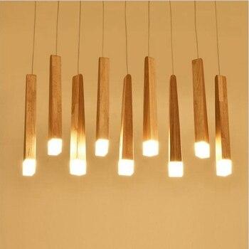 LED Anhänger Lampe Einfache Europa Einfache Holz Licht 30CM 220V Oberfläche Montiert Für Blässe Studie Master Esszimmer Schlafzimmer