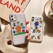 Мультфильм Медведь кукла милый чехол для телефона iphone 12