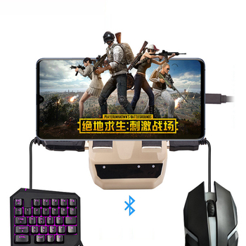 PUBG Mobile Gamepad PUBG Mobile Controller Gaming Keyboard Mouse Wireless Bluetooth Converter Stand For Android IOS Phone to PC