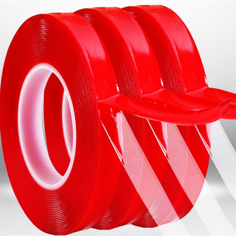 Прозрачная силиконовая Двухсторонняя клейкая лента 300 см, наклейка для автомобиля, высокая прочность, не оставляет следов, клейкая наклейка...