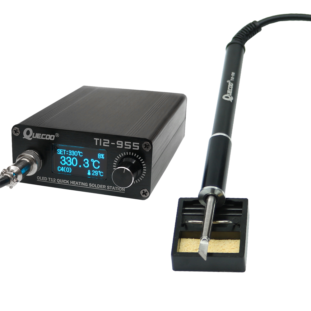 STM32 T12-955 Soldering Station Electronic Soldering iron 1 3inch Digital station solder iron tip welding tool no plug