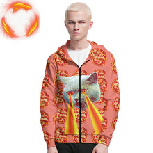 New ZIipper Pizza Cat 3D Printing Hoodie/Sweatshirt  Unisex Good Quality Streetwwear Hoodies Men Women Streetwear Funny