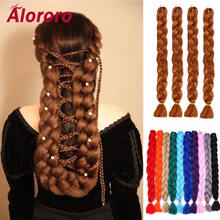 Косички alororo из синтетических волос для наращивания 82 дюйма/165