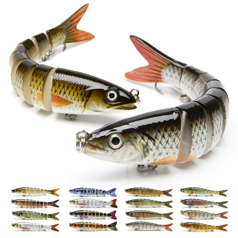 10/14cm Crankbaits Fishing Sinking Wobblers Fishing Lures Jointed Swimbait 6/8 Segment Artificial Bait For Fishing Tackle Lure