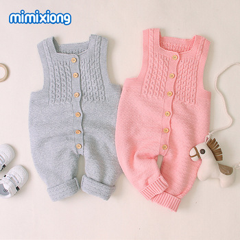 INS Hot Models Baby Romper Sleeveless Solid Color Onesie Casual Children Crawling Clothes AliExpress