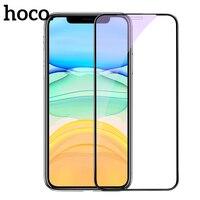 Hoco 0.25mm vidro de proteção para iphone x xr 11 pro max protetor de tela capa completa 3d vidro temperado para iphone xs max