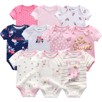 2020 Baby Girls bodysuits short Sleeve cotton Bunny overalls infantis clothes Newborn boys baby Roupas de bebe outfit clothing