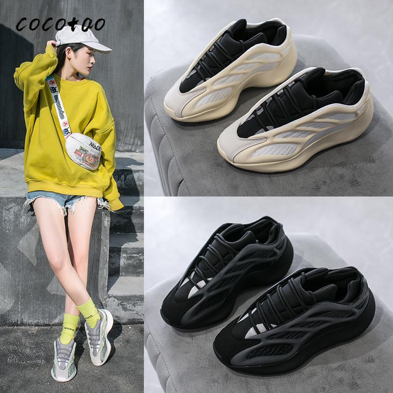 Coconut Shaped Skeleton Luminous Tide Shoes Couple Shoes Casual Sports Shoes Women's Shoes Ins Tide Dad Shoes Women