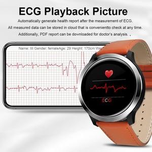 "Image 3 - 2020 חכם שעון IP68 אק""ג + PPG לחץ דם מדידה E70 Smartwatch לב שיעור חמצן צג שיחת תזכורת ספורט גברים נשים"