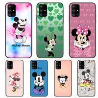 Leuke Mickey Mouse Hier Telefoon Case Romp Voor Samsung Galaxy A50 A51 A20 A71 A70 A40 A30 A31 A80 E 5G S Zwart Shell Art Mobiele Cove