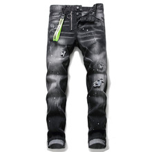 Classicfor women/men jeans , patchwork skinny jeans and moto