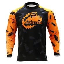 Venda quente fora da estrada da equipe de montanha roupas bicicleta camisa de manga longa camisa da motocicleta rpet pro ciclismo camisa dos homens