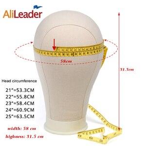 Image 5 - Alileader Cabeza de Maniquí de lona, 21/22/23/24/25 pulgadas, exhibición de cabeza, modelo de estilismo, cabeza de maniquí