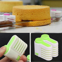 2pcs/pack Cake Slicers Cutter 5 Layers Adjustable DIY Bread Leveler Slicer Cutting Fixator for Kitchen Tools