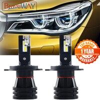 Braveway farol para carros super led h4  lâmpada 16000lm h4 h1 h4 h7 h3 h11 hb3 hb4 9005 turbo lâmpadas de led para luzes automotivas 12v