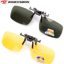 ROBESBON Polarized Cycling Sunglasses Clip Myopic Eyes Glasses Outdoor Sports MTB Drive Driver Night Vision