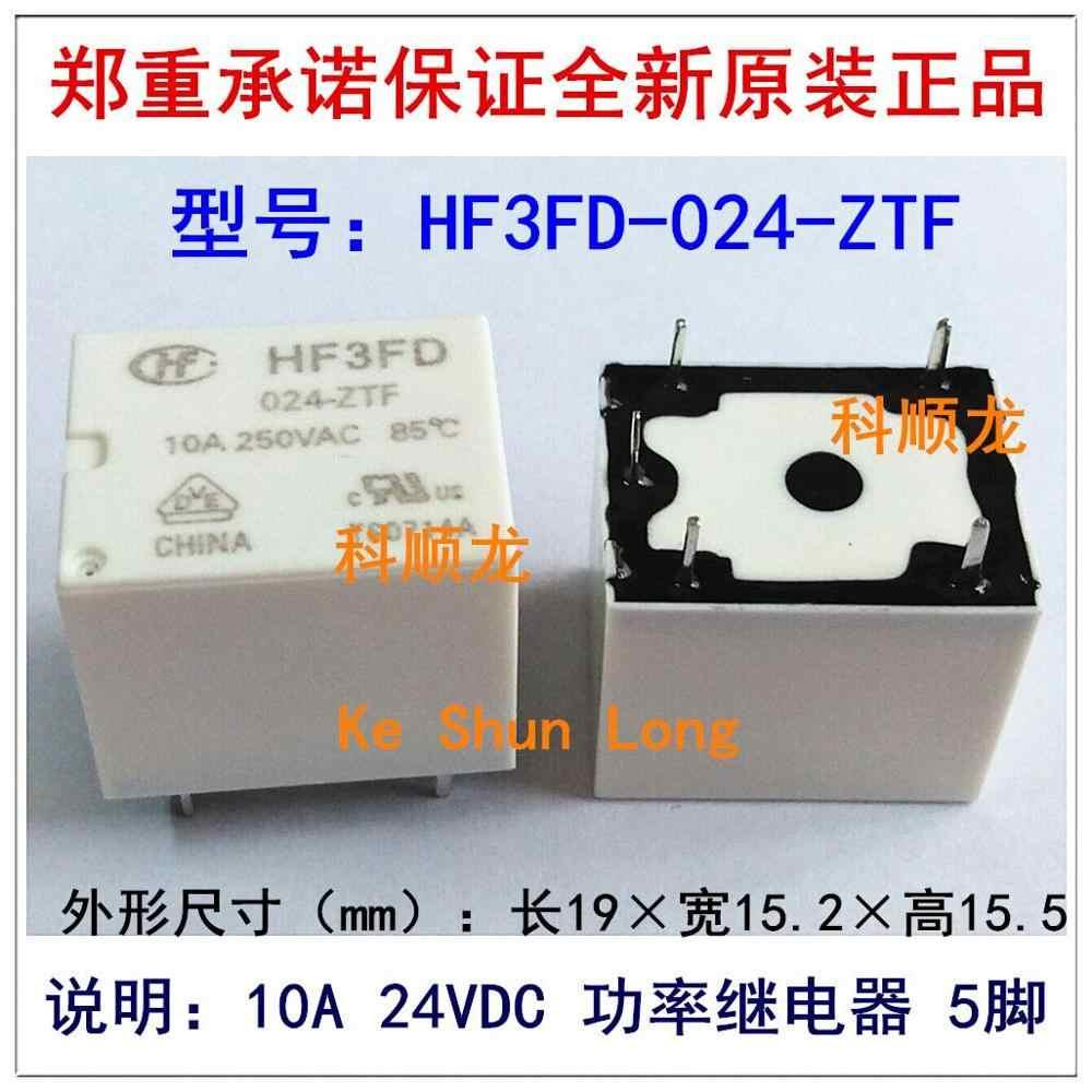 100% الأصلي جديد HF HF3FD-012-ZTF HF3FD-012-ZSTF HF3FD-024-ZTF 5 دبابيس 10A 12VDC الطاقة التبديلات