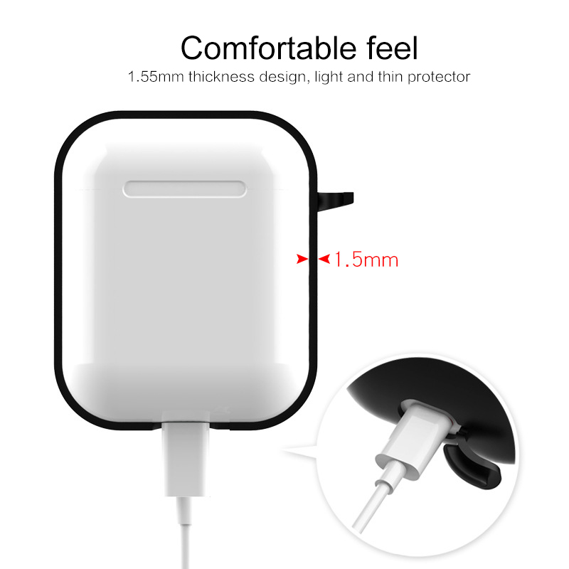 For Airpods i12 TWS Portable Silicone Case for Wireless Bluetooth Headset Protective Cover Anti-lost airpods case