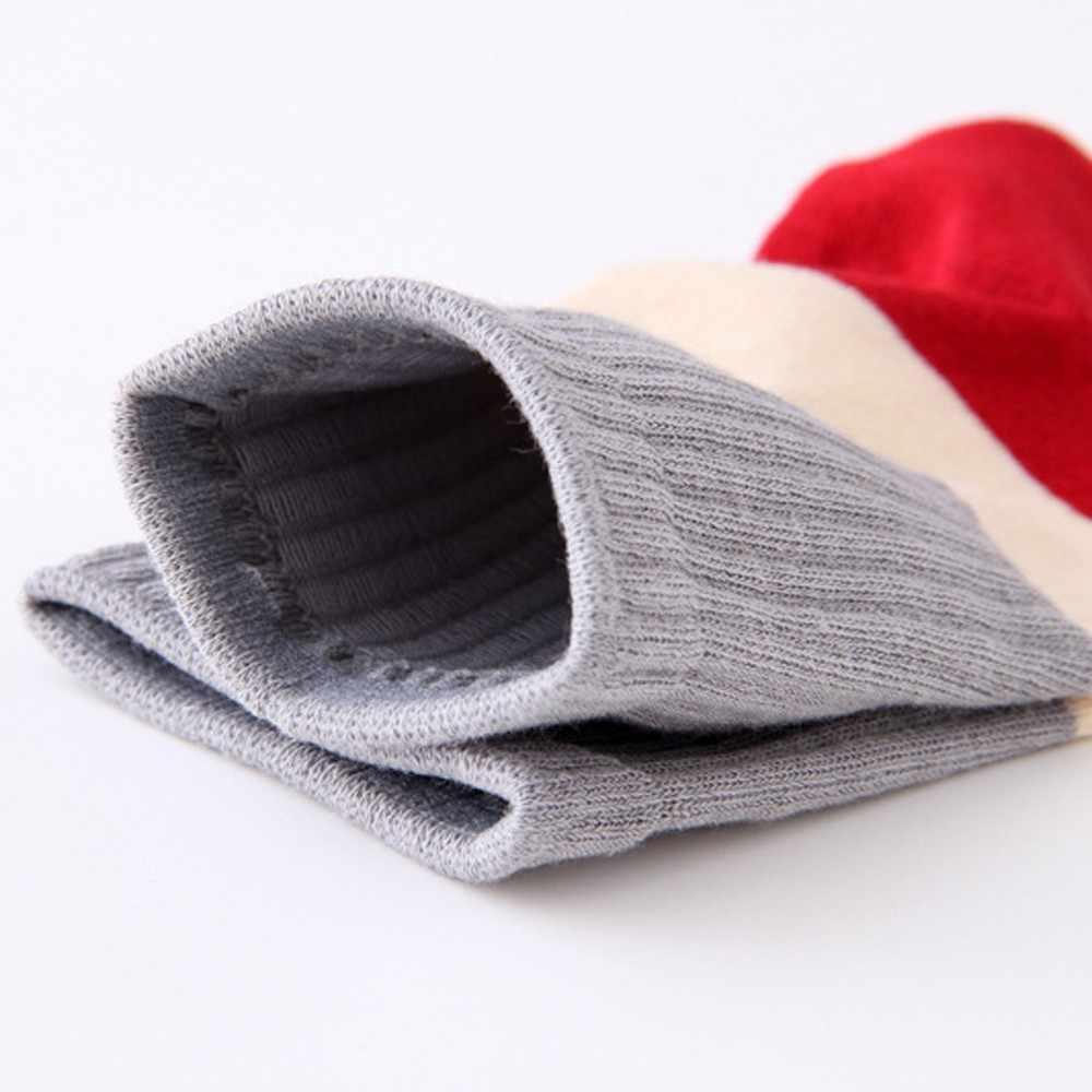 Mới Tất Thời Trang Cổ Áo Đùi Cotton Cao Quá Đầu Gối Acrylic Cao Tất Bé Gái Nữ Nữ Dài Đầu Gối Mút