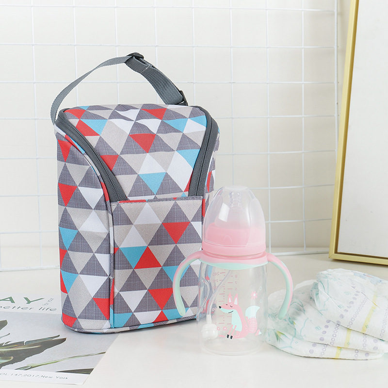 Portable Hand Baby Bottle Bag Baby Diapers Storage Bag Universal Freshness Insulated Diaper Bag Infant Cart Bag