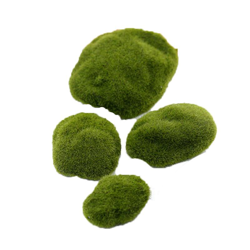 Artificial Moss Rocks Decorative Green Moss Covered Stones