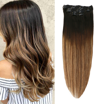 Toysww Clip in Human Hair Extensions Straight Machine Remy Russian Hair 6PC 100G 120G Natural Hair sindra indian straight remy hair clip in human hair extensions blonde color 60 full sets 6pcs set 100g 120g