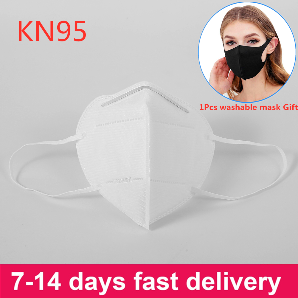 50Pcs Anti-Dust KN95 Mask Mascherine PM2.5 Filters Protective Face Mask Masque Earloop Disposable KN95 Masks
