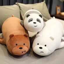 4 estilos suporte dos desenhos animados urso nu brinquedos de pelúcia recheado bonito animais figura bonecas macio dormir travesseiro para crianças meninas presentes de aniversário