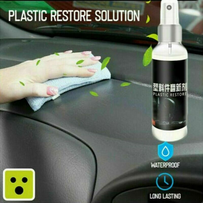 30ML Car Plastic Part Retreading Restore Agent Wax Instrument Panel Reducing For Car Cleaning Recovery Liquid