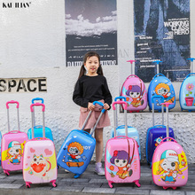 Trolley Luggage Cabin Cartoon-Suitcase Travel Kids Children's Wheeled-Bag Boy for Student
