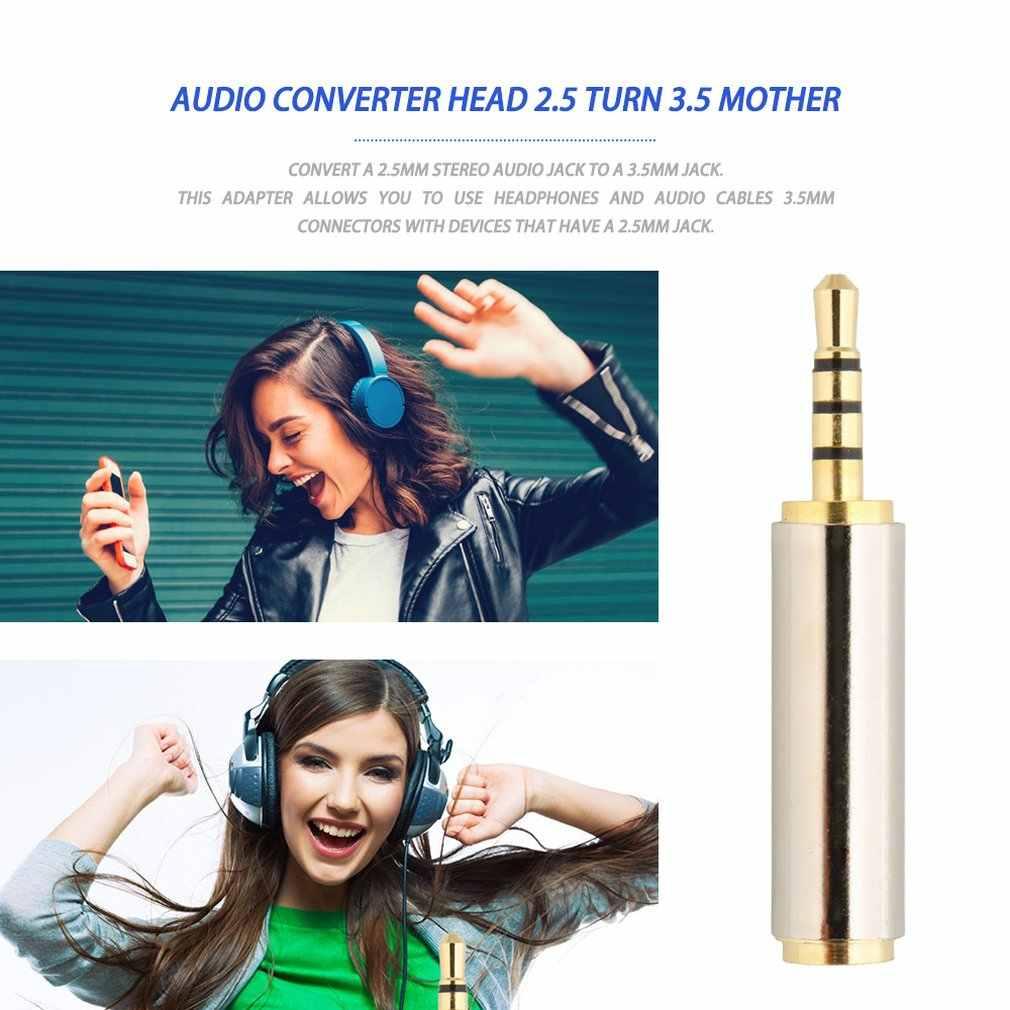 Złoty 2.5mm męski na 3.5mm żeński adapter audio stereo konwerter wtyczki wtyczka słuchawkowa Dropshipping