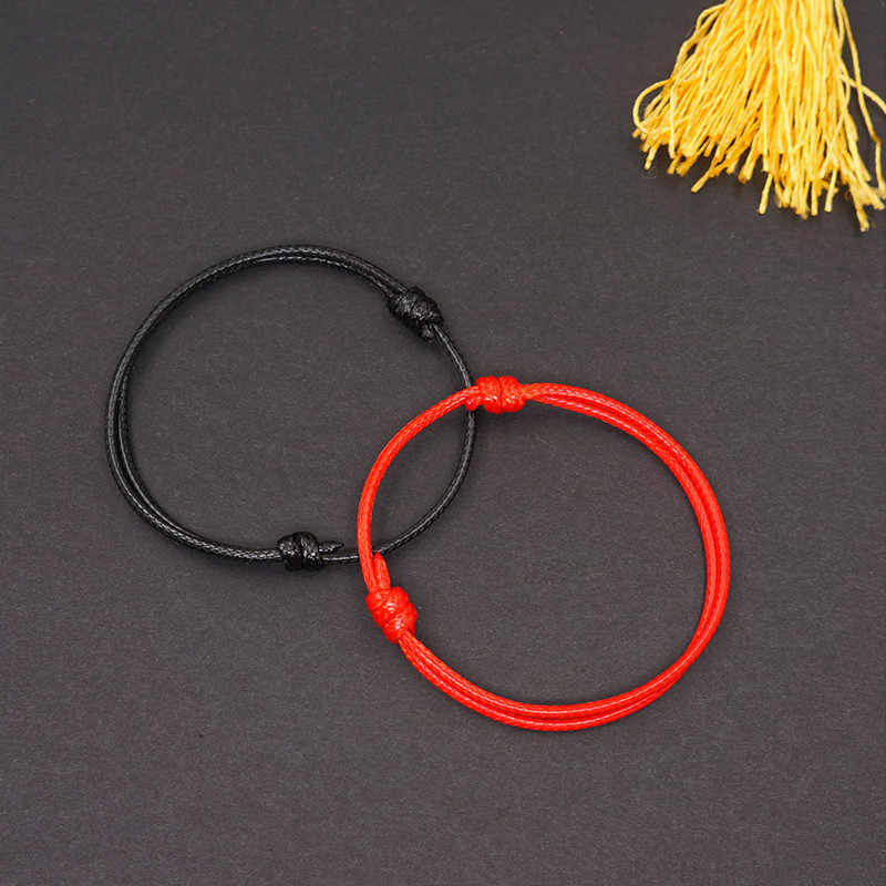 Anklets For Women Wax Rope Foot Jewelry Summer Beach Simple Foot Rope Handmade Couple Round Anklet Size 19cm-25cm