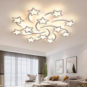 Image 2 - IRALAN светодиодная люстра, современные звезды для гостиной, спальни, пульт дистанционного управления/приложение для поддержки Домашнего Дизайна, модель люстры ICFW1913
