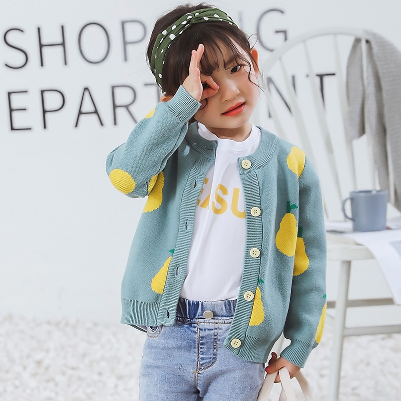 New Girl Cartoon Sweaters Baby Cotton Knit Cardigan Sweater Kids Long Sleeve Autumn Children Clothes Fashion Boy Girl Outer Wear 2