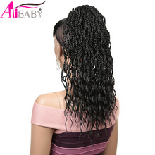 Synthetic Ponytail Braided Drawstring The-Curly-Ends Clip-In Women 18inch Alibaby
