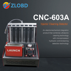 LAUNCH CNC 603A Injector Cleaner & Tester CNC 602A Fuel Injector Tester Cleaning Machine Test Bench Equipment tools for garage