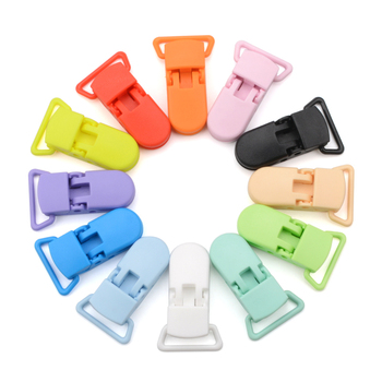 10pcs Baby Pacifier Clips Solid Plastic Pacifier Clips Soother Holder Infant Pacifier Nipples Holder Multi Color Clamp Toy image