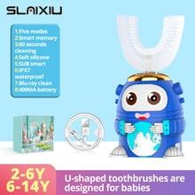 Enfants brosse à dents électrique pour enfants Smart 360 degrés U silicone USB automatique ultrasons dents brosse à dents dessin animé modèle