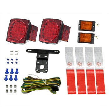 Hot 2018 12V Trailer Tail LED Light Kit Super Bright Brake Stop Warning Lights Tail License Lights for Camper Truck with Accesso