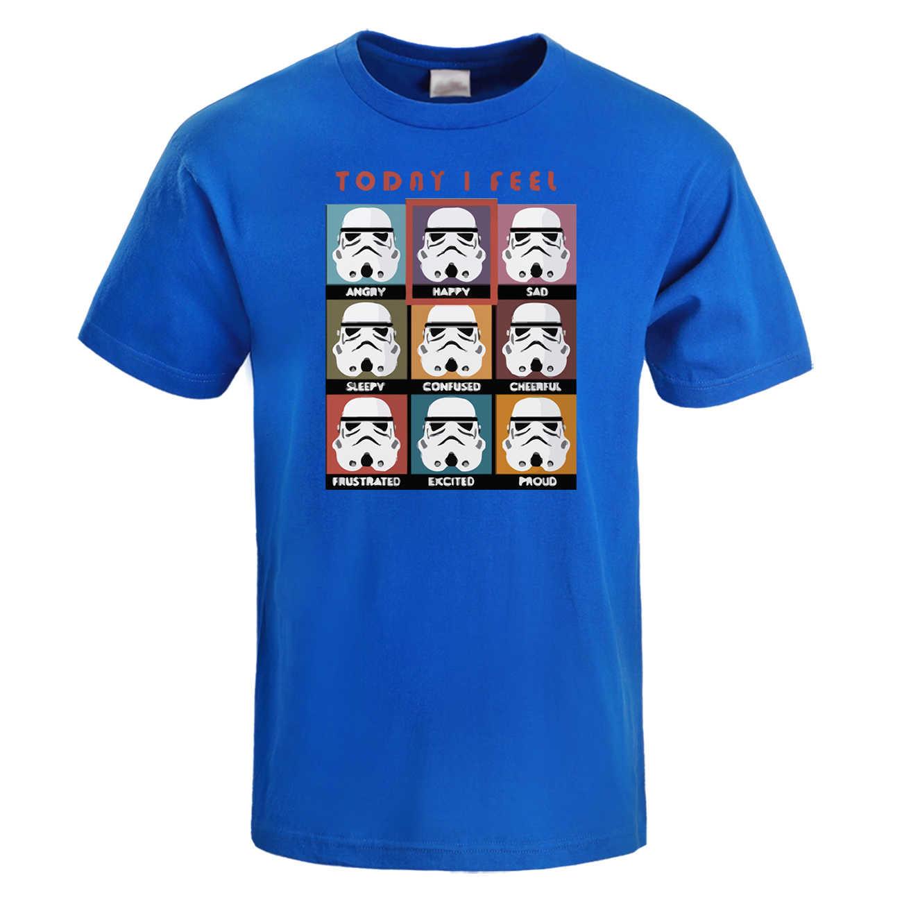 Heute ICH Fühlen Sich Wütend Glücklich Traurig Lustige Star Wars Ausdruck T-Shirt Männer 2019 Sommer Oansatz Kurzarm T-shirt Baumwolle Film T Shirts