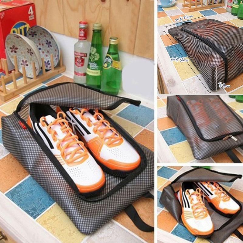 Travel Dustproof Shoe Bag Lazy Waterproof Storage Bag Bag Cover Portable Mesh Portable Visual Wall Hanging Bag